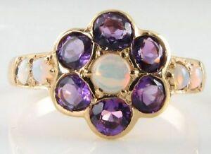 送料無料 ネックレス robust 9k9ct gold australian opal amethyst 9k vintageins free daisy 9ct resizerobust 高級品 ring da いよいよ人気ブランド