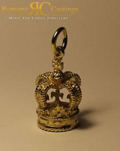 送料無料 ネックレス ペンダント9ctゴールドジャンプ71g40×20mmroyal crown pendantcharm solid 9ct gold jump ring fully stamped 71g 40 x 20 mm