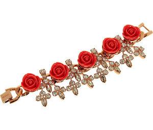 【送料無料】ネックレス mawi londonバラスワロフスキーbnibmawi london roses and swarovski crystals gold plated bracelet bnib
