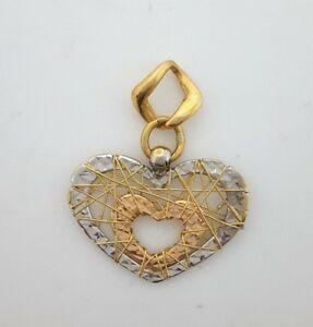 【送料無料】ネックレス miran 081069 18kイエローホワイトインターネットペンダントrrp590miran 081069 18k yellow, white and rose gold wired heart pendant rrp590
