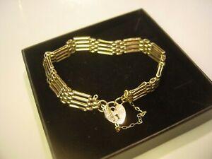 【送料無料】ネックレス incredible solid 9 ct gold heavy unusual4bar gate bracelet793 gramlovleyincredible solid 9 ct gold heavy unusual 4 bar gat