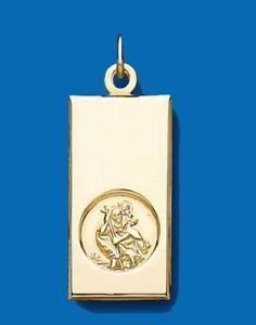 【送料無料】ネックレス 9ctイェローゴールドstクリストファーインゴットmed9ct yellow gold med st christopher ingot