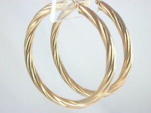 【送料無料】ネックレス 9ct47パターン9ct twist patterned hoops 47