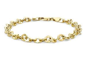 【送料無料】ネックレス 9ctイェローゴールドハンマーリンクベルチャー19cm759ct yellow gold oval hammered link belcher bracelet 19cm75
