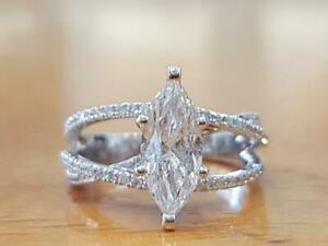 【送料無料】ネックレス 350tcwmoissaniteバイパス14kホワイトゴールド350tcw marquise moissanite bypass lovely engagement ring 14k white gold over