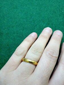 【送料無料】ネックレス 22ctコートkl19314mm49gantique 22ct gold wedding court ring, kl hallmark 1931, solid 49g, 4mm wide