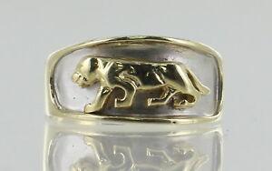 【メール便送料無料対応可】 【送料無料】ネックレス イエローホワイトゴールドジャガーリング14ct yellow and white gold jaguar ring, カニグン 53e4b096