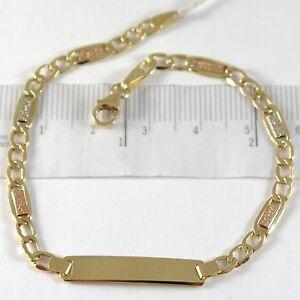 ネックレス ブレスレットイエローゴールドホワイトローズプレートbracelet yellow gold white rose 750 18k, oval and plate for incision
