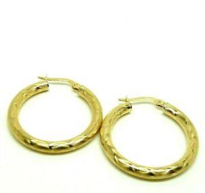 【送料無料】ネックレス イヤリングソリッドゴールドアレッツォフープイヤリングearrings used reconditioned solid gold 18 kt unoaerre arezzo hoop earrings