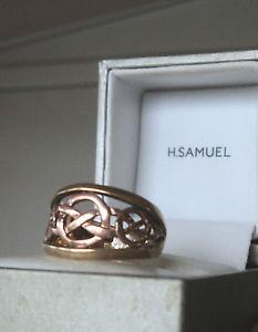 【送料無料】ネックレス ウェールズゴールドキングエドワードクイーンサイズケルトリングサイズwelsh 9ct clogau gold king edward queen eleanor celtic ring hm 1997 size l