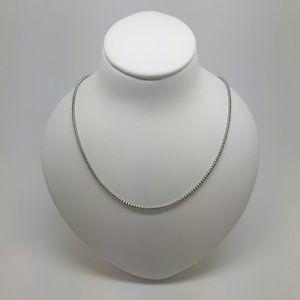 【送料無料】ネックレス miran 150286 18k750ホワイトゴールド50cm 35g rrp710miran 150286 18k 750 white gold round box chain 50cm 35g rrp 710