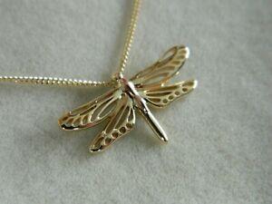 ネックレス ウェールズゴールドペンダントclogau 9ct welsh gold damselfly pendant rrp 52000