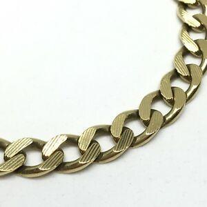 ネックレス ブレスレットインチ9ct gold curb bracelet  825 inches  ref185