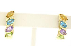 【税込?送料無料】 【送料無料】ネックレス イエローゴールドアメジストペリドットカットトパーズカフポストイヤリング14k 200ctw topaz yellow peridot gold 200ctw marquise cut amethyst peridot amp; topaz cuff post earrings, メイワチョウ:631ac4a0 --- hafnerhickswedding.net