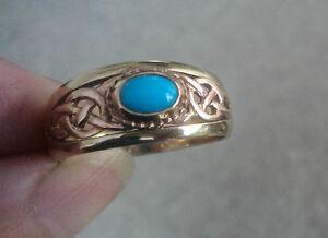 送料無料 ネックレス ウェールズゴールドターコイズセルティックデザインリングサイズlarge welsh 9ct clogau gold turquoise celtic design ringsize stsBQrxhCd