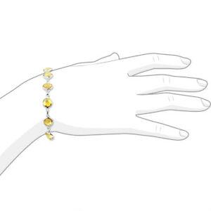 ネックレス kホワイトゴールドブレスレットシトリンカットインチ14k white gold bracelet with fancy cut yellow citrine gemstones 8 inches