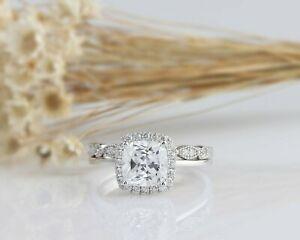 【送料無料】ネックレス クッションホワイトゴールドカットハローリング244 tcw cushion cut halo engagement wedding ring set in white gold for women