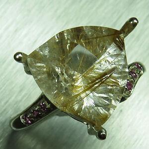 【送料無料】ネックレス ゴールデンルチルクォーツシルバーkkゴールドプラチナリング485ct natural golden rutile quartz 925 silver 9ct 14k 18k gold platinum ring