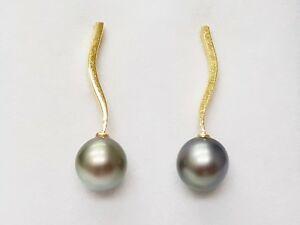 送料無料 ネックレス イアリング18kイェローゴールド750000タヒチパール620gr76603dangle earrings 18k yellow gold 750000 tahitian pearl 620 g r76603 成人の日 お祝 年始