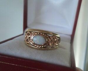 【送料無料】ネックレス ウェールズゴールドオパールセルティックデザインリングサイズearly welsh 9ct clogau gold opal celtic design ring hm 1998   size p:hokushin
