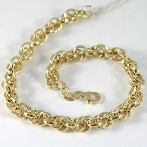 ウイスキー専門店 蔵人クロード 【送料無料】ネックレス イエローゴールドリングブレスレットbracelet in yellow gold 750 18k rings, entwined circle, 205 cm length, デジタルランド cb8395b4