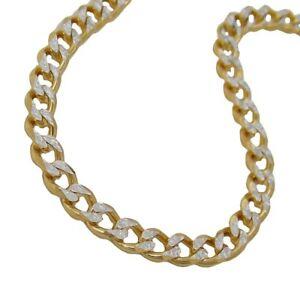 大流行中! 【送料無料】ネックレス ブレスレットチェーンブレスレットゴールドレディース4,4mm bracelet curb chain bracelet 585 gold bicolour yellow white 19cm ladies, インク48 4747ee01