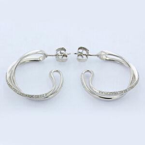 【送料無料】ネックレス ゲオルクイェンセンフープイヤリング¥georg jensen silver infinity hoop earrings rrp 775