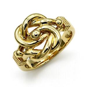 【送料無料】ネックレス mens9ctイェローゴールドダブルmens solid 9ct yellow gold double knot ring