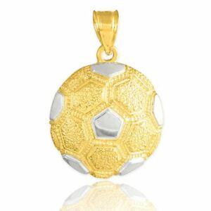【送料無料】ネックレス トーンゴールドテクスチャードサッカーボールスポーツネックレスチェーン