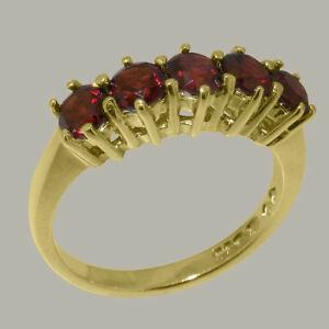 【送料無料】ネックレス イエローゴールドガーネットリングサイズ18ct 750 yellow gold natural garnet womens eternity ring sizes j to z