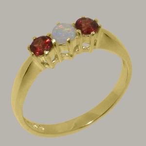 【送料無料】ネックレス ソリッドイエローゴールドオパールガーネットリングsolid 18ct 750 yellow gold natural opal amp; garnet womens trilogy ring