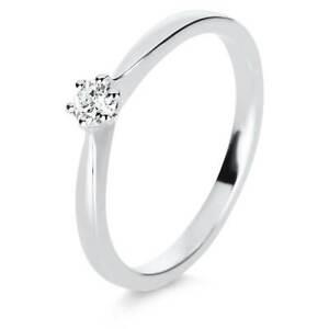 【送料無料】ネックレス ホワイトゴールドリングwomens ring from 585 gold white 6erkrappe with brilliant 0,16 ct twsi