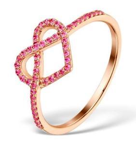【送料無料】ネックレス ピンクサファイアローズゴールドハートリング027ct pink sapphire 9ct rose gold heart ring