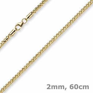 【送料無料】ネックレス 2mm585イェローゴールドチェーンチェーンコリヤーネックレス60cm