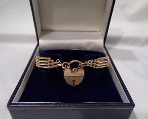 【送料無料】ネックレス ヴィンテージ4ゲート9ctイェローゴールド7 12インチ19cmvintage four bar gate bracelet 9ct yellow gold length 7 12 inches 19 cm