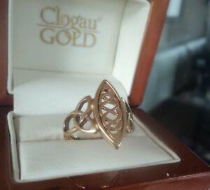 【送料無料】ネックレス ウェールズイエローローズゴールドワイドクイーンサイズリングサイズclogau welsh 9ct yellow amp; rose gold wide queen eleanor ring hm 1999  size q