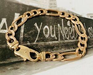 【送料無料】ネックレス 9ct75フィガロリンク  023999ct solid gold 75 figaro link chunkyheavy bracelet 02399