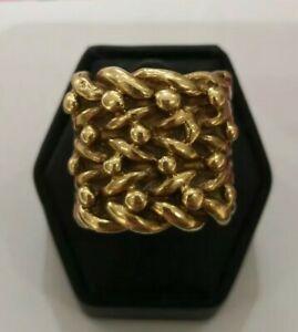 ネックレス ゴールドキーパーリングサイズan impressive large 9ct gold keeper ring size t