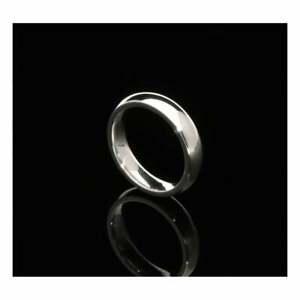 【送料無料】ネックレス 18ctホワイトゴールドコート4mm18ct ladies white gold court 4mm wedding ring
