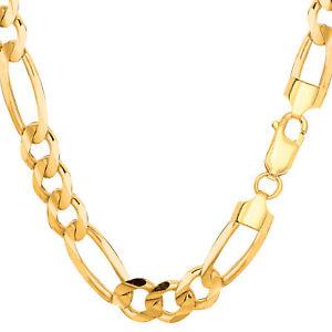 【送料無料】ネックレス イエローゴールドソリッドフィガロチェーンブレスレットインチ10k yellow gold solid figaro chain bracelet, width 83mm, length 85 inch