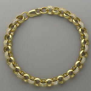 【送料無料】ネックレス 9ct75セットベルチャーmm8インチt1_8hallmarked 9ct gold ladies gemset belcher bracelet 75mm 8 inches t1_8