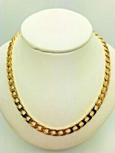 【送料無料】ネックレス イエローソリッドゴールドチェーン9ct yellow solid gold curb chain 20