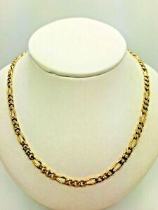 【送料無料】ネックレス 9ctフィガロ 309ct yellow solid gold figaro chain 30