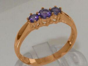 【送料無料】ネックレス 18ct 750zゴールドアメジストwomensサイズjsolid 18ct 750 rose gold natural amethyst womens trilogy ring sizes j to z