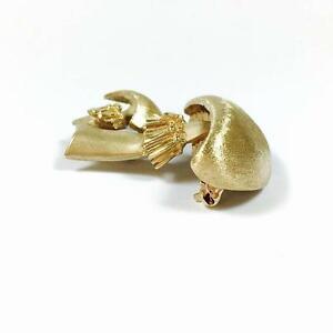 ネックレス ヴィンテージ14kイェローゴールドブローチピンvintage 14k yellow gold mushroom brooch pin