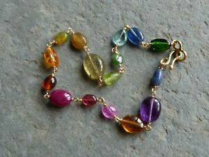 【送料無料】ネックレス ブレスレットゴールドストーンズbracelet gold 18 ct, stones precious