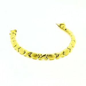 【送料無料】ネックレス イエローゴールドリンクブレスレットグラムインチ14k yellow gold xo link bracelet 123 grams 7 inches