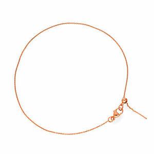 【送料無料】ネックレス ローズゴールドインチブレスレットreal 375 9ct rose gold adjustable 75 inch bracelet plain simple everyday