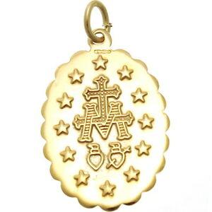 送料無料 ネックレス ゴールドメアリーメダルペンダントネックレスマドンナメダルUzSMpLVGq
