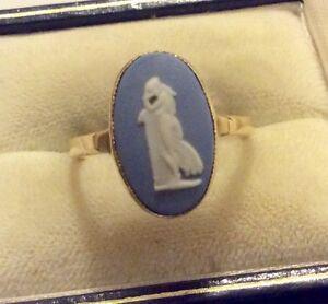 【送料無料】ネックレス ヴィンテージゴールドウェッジウッドリングサイズbeautiful ladies stamped early vintage 9ct gold lovely wedgwood ring size o